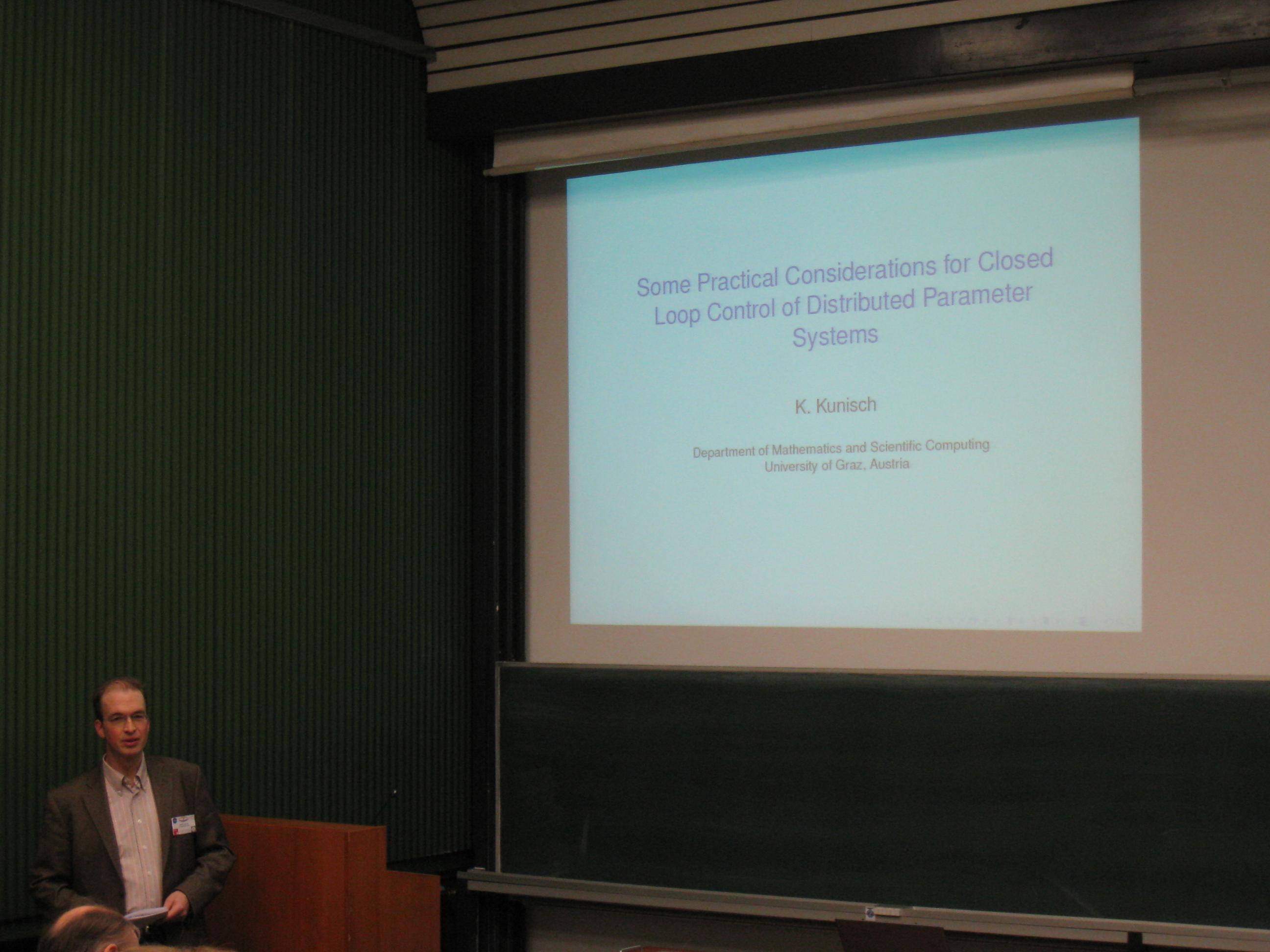 Workshop 'PDE Constrained Optimization'
